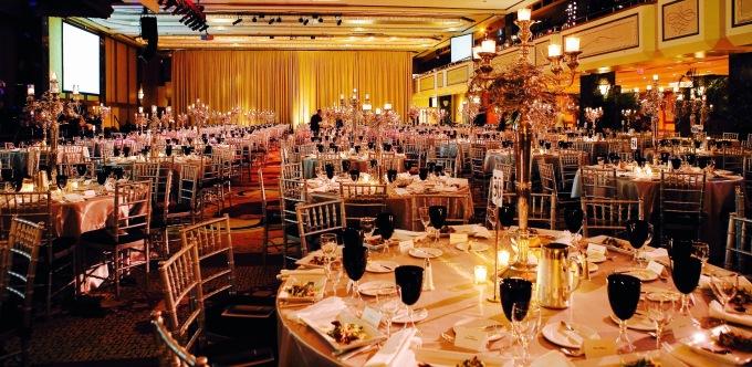 A Hotel Ballroom Is Transformed - Hilton NY - Decor, A Red Maple Leaf ©Stephanie Badini